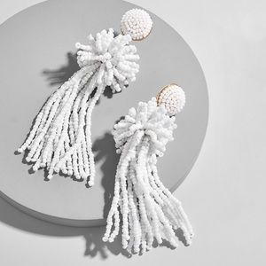 BaubleBar Rishita Beaded Tassel Drop Earrings